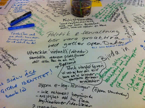Anteckningar från lunchdiskussionen om öppna data i Skåne.