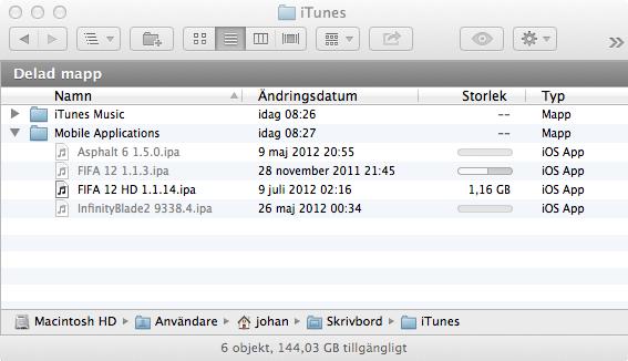Progressindikator i nya OS X