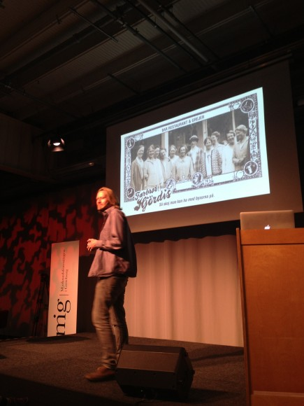 Erik Nissen Johansen på Marknadsföringsdagen 2013 (Foto: Johan Berndtsson)