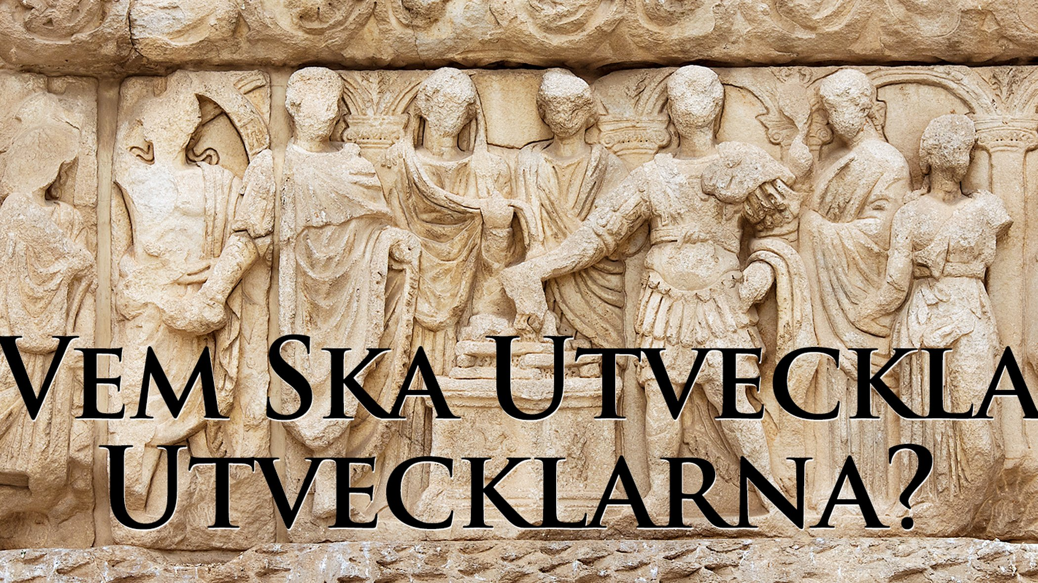 Figurer huggna i sten på romersk triumfbåge