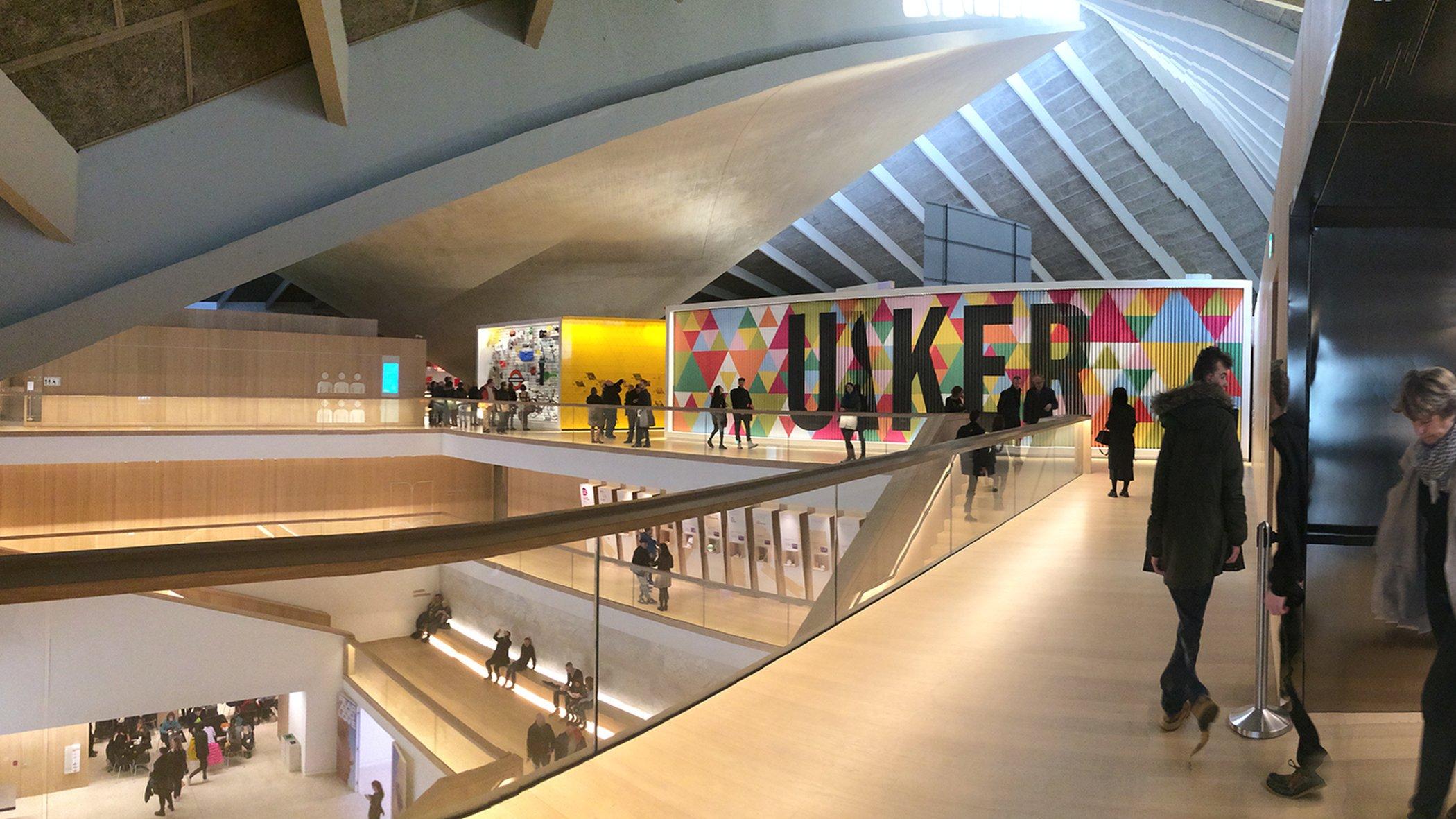 Vy från Londons alldeles nya designmuseum